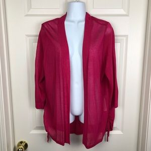 Sweaters - Chico's Pink Sheer Light Open Cardigan 2 L/XL